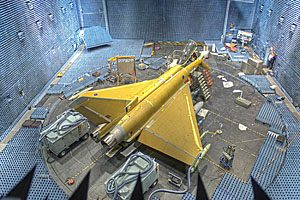 Typhoon in anechoic test rig